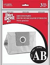 Dirt Devil AD10096 Bolsa de repuesto tipo AB para aspiradoras canister, color Café, Pequeño, pack of/paquete de 3