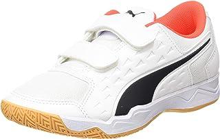 PUMA Auriz V Jr, Zapatillas de Fútbol, Blanco White/Red Blast/Gum, 31 EU