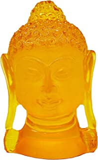 CARATCAFE Buddha Head Figurine Face Statue, 3.7