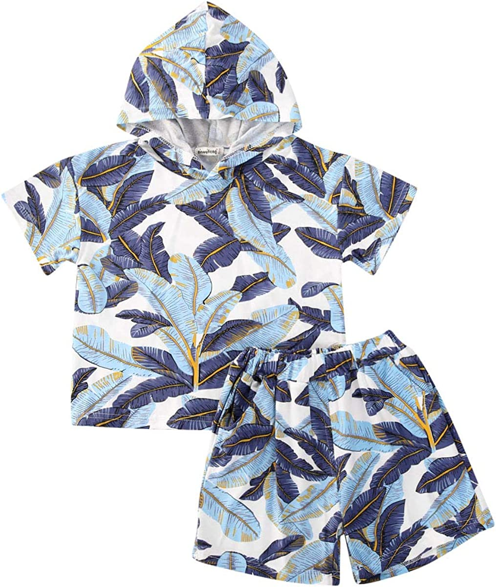 Newborn Baby Boy Hawaiin Polo Romper Short Sleeve Tropical Floral Printed Button-Down Bodysuit Jumpsuit Summer Outfits