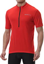 Spotti Men's Cycling Bike Jersey Short Sleeve with 3 Rear Pockets- Moisture Wicking, Breathable, Quick Dry Biking Shirt