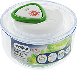 Zyliss Easy Spin Salad Spinner, White, Small
