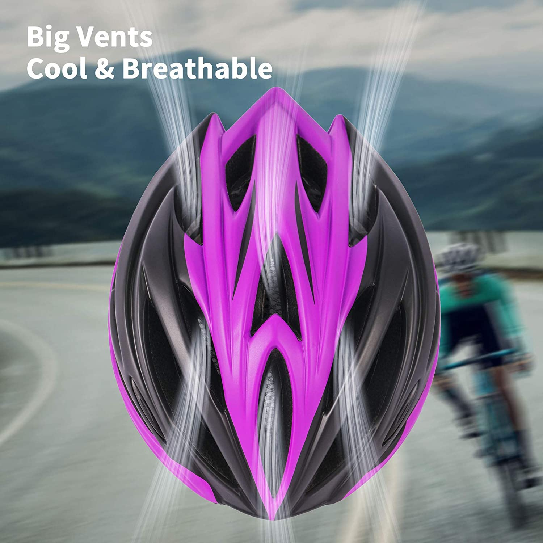 MOKFIRE Adult Bike Helmet for Men Women with Removable Visor /& Rear Light CPSC Certified Bicycle Cycling Helmet Adjustable Lightweight Mountain Road Helmets