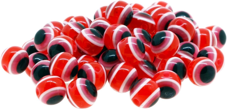 Mandala Crafts Wholesale Jewelry Making 150 8mm Resin Loose Evil Eye Beads Black