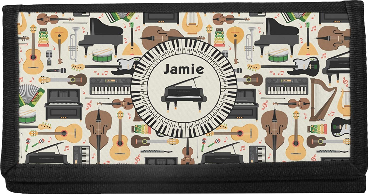 Musical Instruments Max 44% OFF Memphis Mall Canvas Personalized Cover Checkbook
