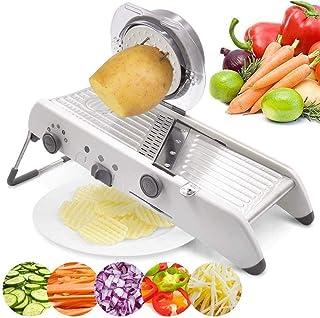 ZHTY Slicer réglable, Slicers de spiralizer Veggie sans BPA, 18 Types d'acier Inoxydable réglable Coupe Manuelle râpe légu...
