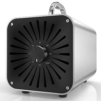 HERAVAC OG-50 Ozone Generator - 5000mg/h Aluminum Alloy Ionizer Air Purifier