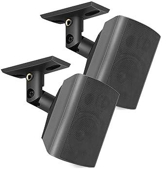 PERLESMITH Speaker Mount, Side Clamping Speaker, Mounting Bracket with Swivel and Tilt for Large Surround Sound Speak...