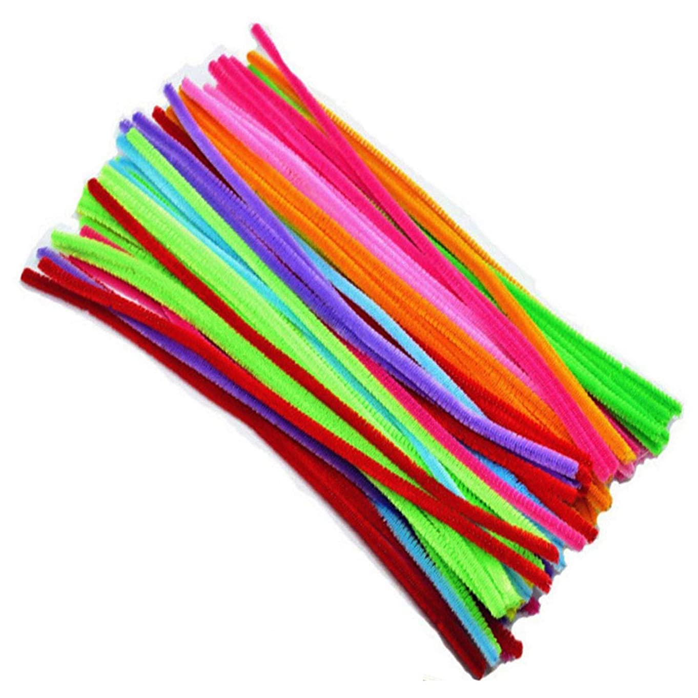 Axe Sickle 300PCS Pipe Cleaners Chenille Stems for DIY Art Craft Decorations 10 Colors (6 mm x 12 inch)