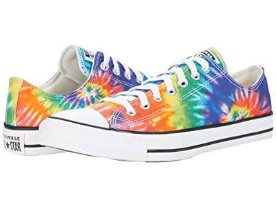 Converse Chuck Taylor(r) All Star(r) Ox Tie-Dye (White/Multi/Black) Classic Shoes