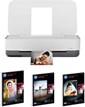 HP Tango Smart Home Printer Designed for your Smartphone-Remote Wireless Printing with Alexa with Glossy 5x7 25 Sheets,Glossy 4x6 25 Sheets,Semi-Glossy 4x6 25 Sheets