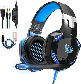 OCDAY Cuffie Gaming PS4 Cuffie PS5 con Microfono Headset Auricolare Gioco con 3.5mm Jack e LED Bass Stereo Noise Cancellin...