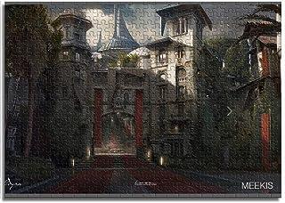 CELLYONE Rompecabezas para Adultos 1000 Piezas Juegos educativos de Royal Castle, Rompecabezas para niños