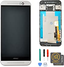 KR-NET OEM Silver LCD Display Touch Screen Digitizer + Frame Assembly for HTC One M9