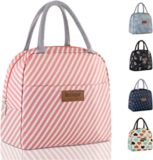 Buringer Reusable Insulated Lunch Bag Cooler Tote Box with Front Pocket Zipper Closure..
