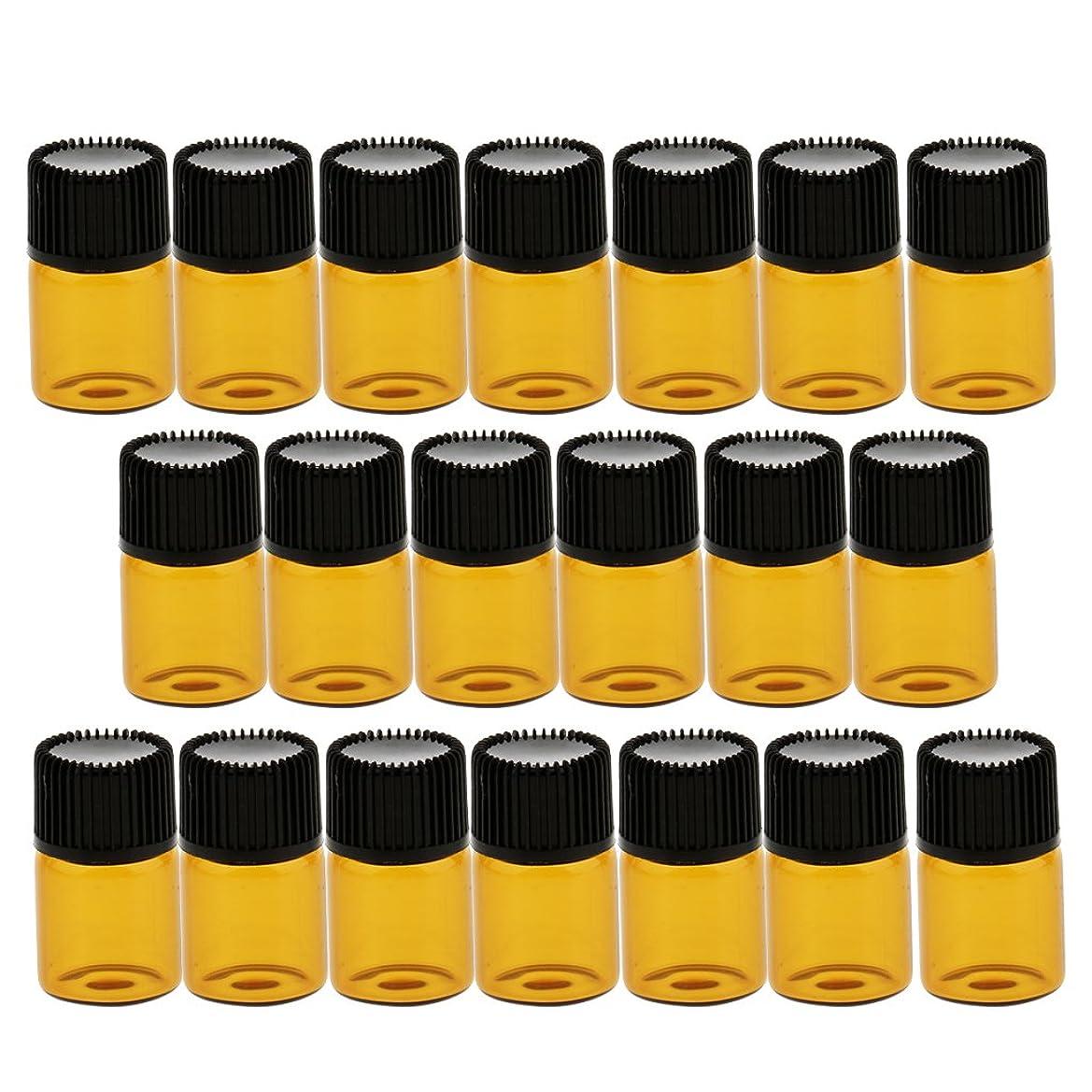 穏やかな最小化するリストCUTICATE 約20個 ガラスバイアル コスメ 化粧品 詰替え容器 ボトル ポータブルサイズ 旅行小物 4サイズ - 2ml