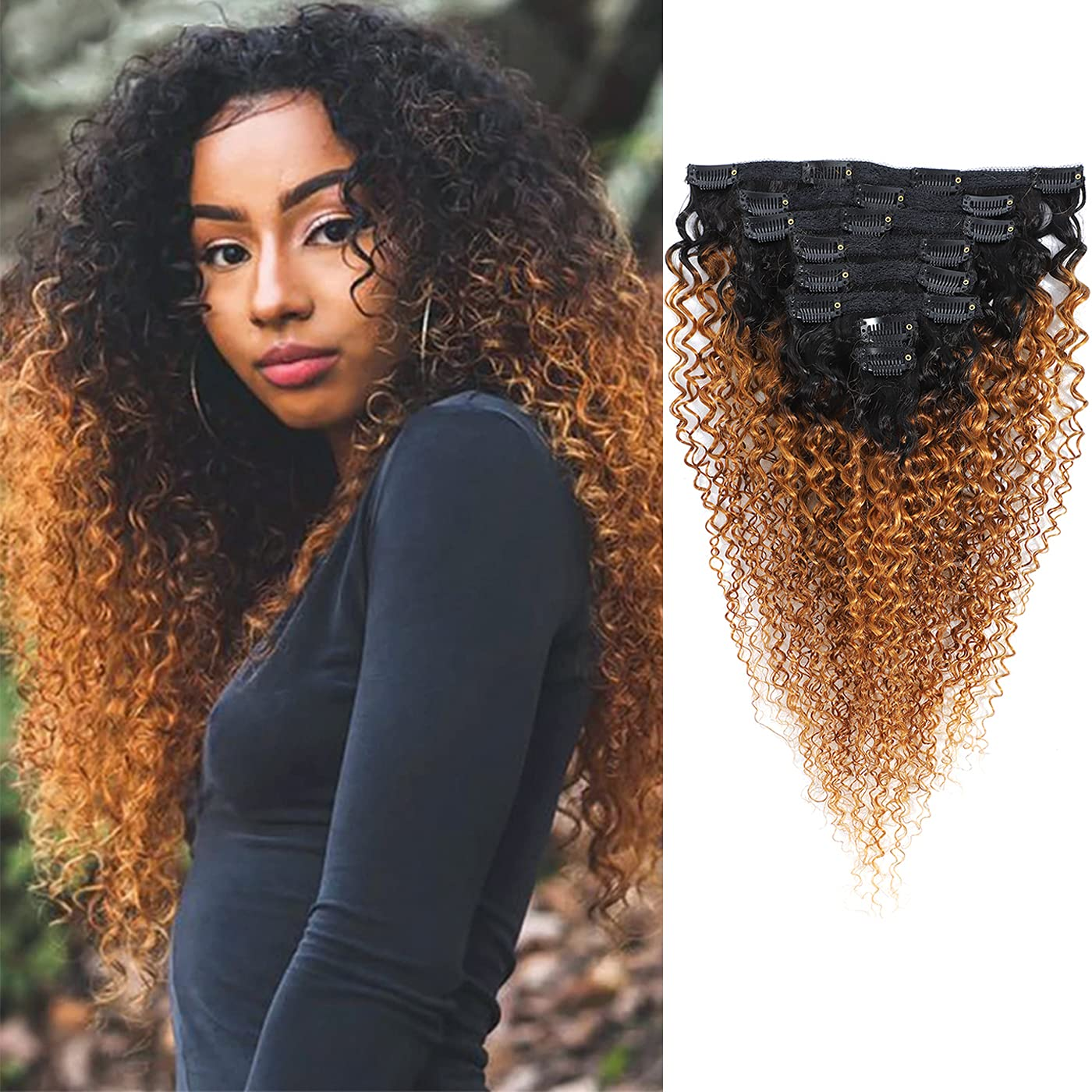 Curly Direct sale of manufacturer Clip ins Hair Extension Ha Human Kinky Philadelphia Mall Afro