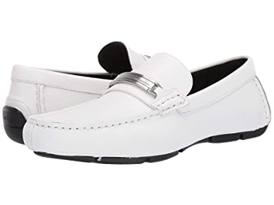 Calvin Klein Kolton (White Hatched Embossed Leather) Men