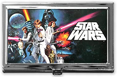 Star Wars Custom Business Card Holder Case for Men and Women Stainless Steel Business Name Card Holder -Silver
