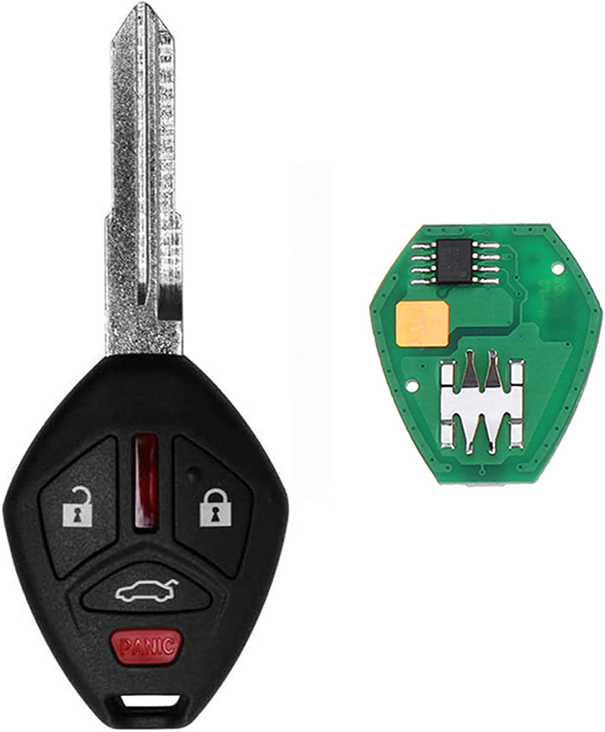 VOFONO Car Key Fob Keyless Entry Remote Fits for Mitsubishi Eclipse / Galant 2007 - 2012 FCC ID: OUCG8D620MA (Pack of 1) 4 Buttons Key fob Replacement