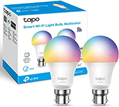 TP-Link Tapo Smart Bulb, Smart WiFi LED Light, B22, 8.7W, Compatible with Alexa(Echo and Echo Dot), Google Home, Colour-Ch...