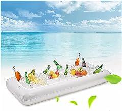 Piscina Hinchable Piscina Flotación Cerveza inflable Colchón Cubo de hielo Cubo de hielo Sirviendo Barra de ensalada Bandeja Tenedor de bebida para la bebida para el agua de verano Juguetes de balsa d