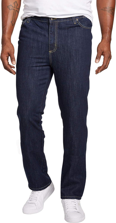 Liberty Blues Men's Big & Tall Straight-Fit Side Elastic 5-Pocket Jeans