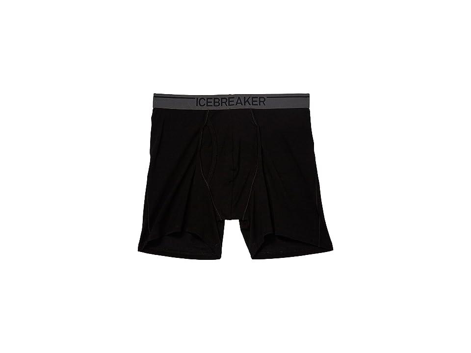Icebreaker Anatomica Merino Boxers w/ Fly (Black/Monsoon 1) Men