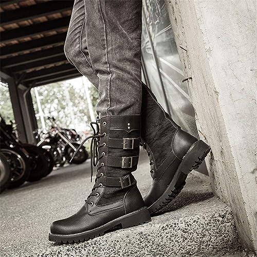 botas Altas para Hombre Versión Coreana de The Trend of botas botas para Hombre aumentadas botas Altas botas Altas britániñas botas de Vaquero Occidentales,38