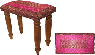 featured product Relaxus Yoga and Meditation Bench. Rishikesh Buddha Bench. Hand Carved Legs and Padded Cushion