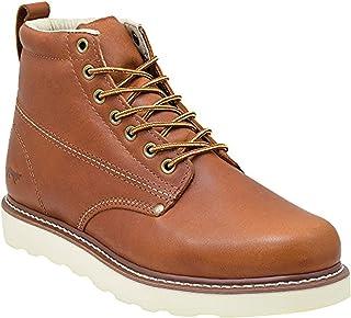 Golden Fox Men's Plain Toe Work Boots Lightweight