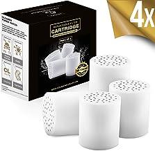 15-traps vervangende premium filtercartridge 4-pack (geen behuizing), compatibel met elk douchefilter van vergelijkbaar on...