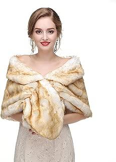 Limeng Women's Faux Fur Shawl Shrug Universal Girl Wraps