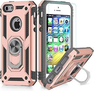 e4b4101afea LeYi Funda iPhone 6 Plus / 7 Plus / 8 Plus Armor Carcasa con 360 Anillo  iman Soporte Hard PC y Silicona TPU Bumper antigolpes Case para movil iPhone  7/8 ...