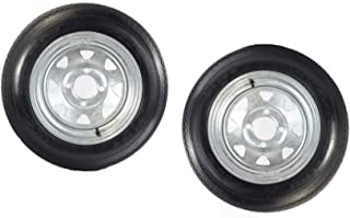 2-Pk eCustomrim Trailer Tire Rim 4.80-12 12 in. Load C 4 Lug Galvanized Spoke