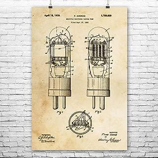Vacuum Tube Poster Print, Electrical Engineer, Science Teacher, Tinkerer Gifts, Garage Workshop, Sci Fi Art, Hobby Store Vintage Paper (8