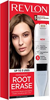 Revlon Root Erase Permanent Hair Color, At-Home Root Touchup Hair Dye with Applicator Brush for Multiple Use, 100% Gray Co...