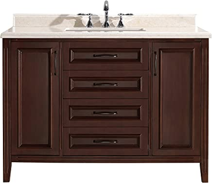 Amazing Ove Decors Daniel 48 Cocoa Bathroom Vanity In Cocoa With Download Free Architecture Designs Scobabritishbridgeorg