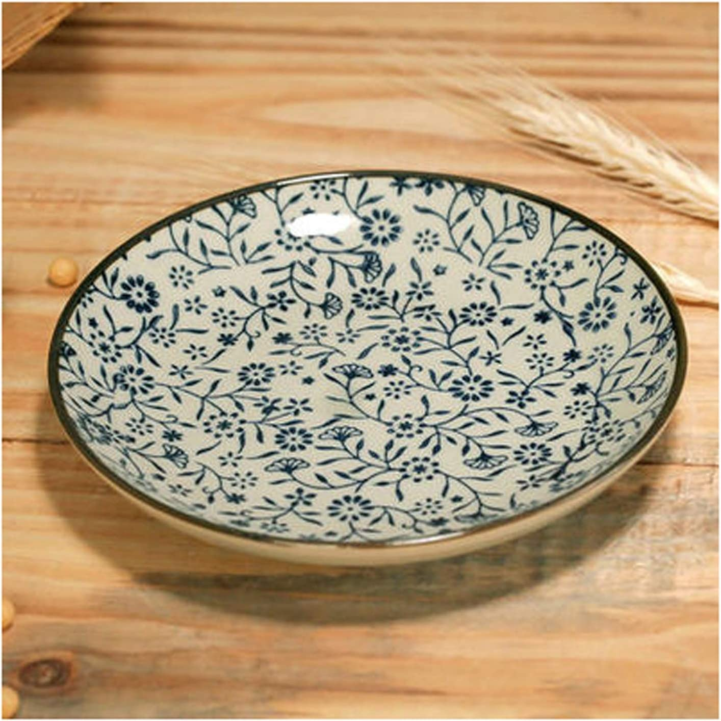 Dinner Plates Ceramic Floral Dessert 67% OFF of fixed price Round Motifs Latest item Plate