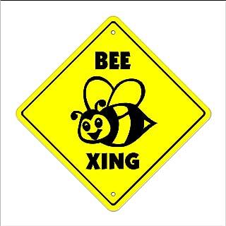 Bee Crossing Sign Zone Xing | Indoor/Outdoor | 14