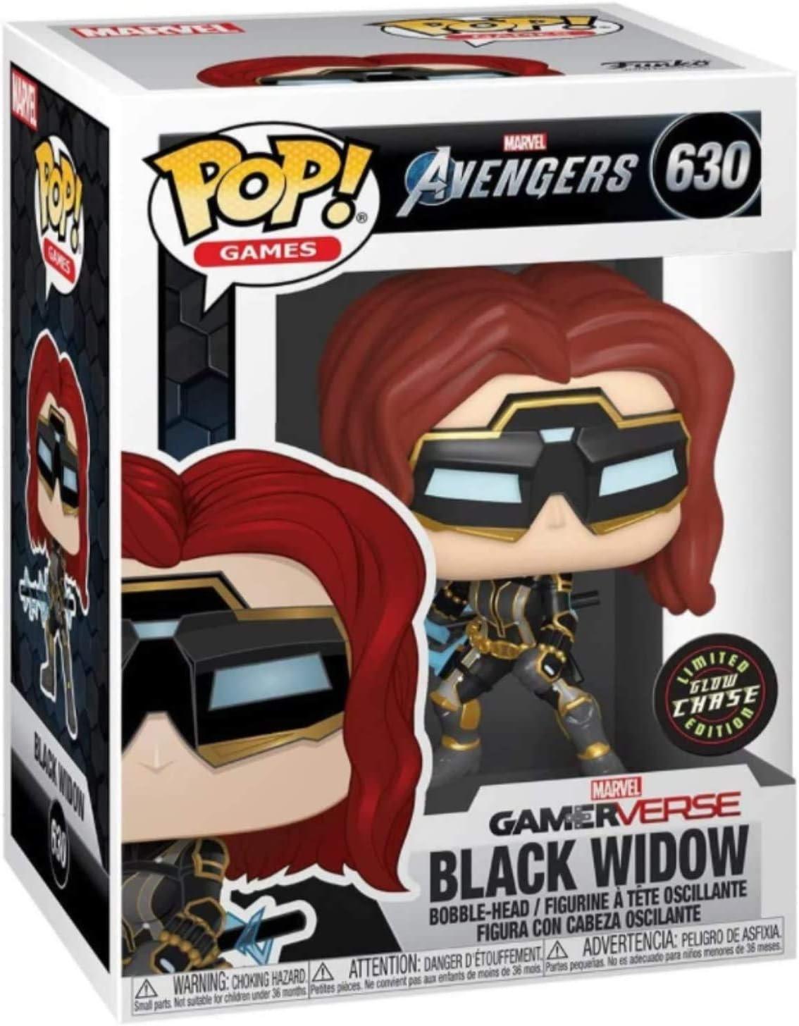 Black Widow Glow in Super sale The Dark Edition Award-winning store Aveng Chase Pop #630 Games: