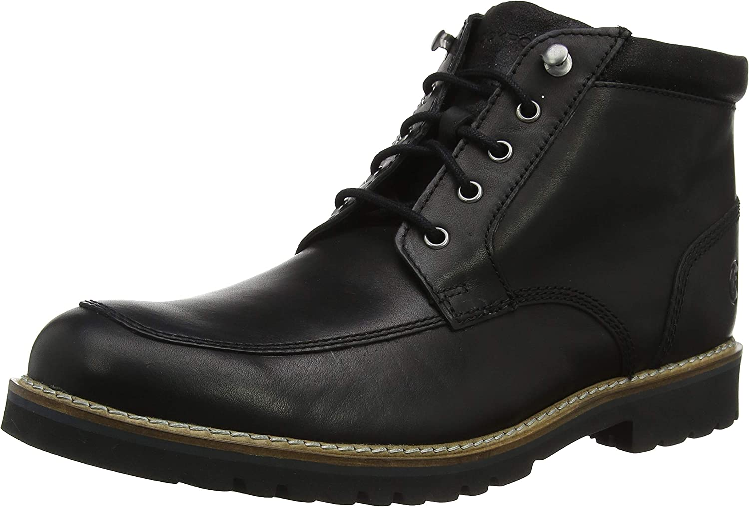 Rockport Men's Marshall R Moc Toe Black Classic Boots