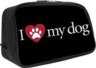 Snaptotes I Love My Dog Design Travel Toiletry Bag Shaving Dopp Kit