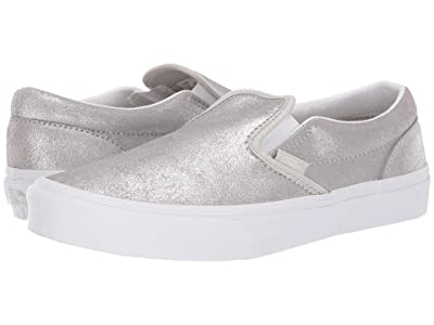 Vans Kids Classic Slip-On (Little Kid/Big Kid) (Silver/Silver) Girls Shoes