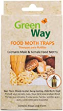 GreenWay Food Moth Trap - Contains 2 Traps and Lures per Box   Pheromone Attractant, Ready to Use   Safe, Non-Toxic with No Insecticides or Odor, Eco Friendly, Kid and Pet Safe