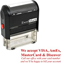 WE Accept Credit Cards - Self Inking Bill Collection Stamp in Red Ink