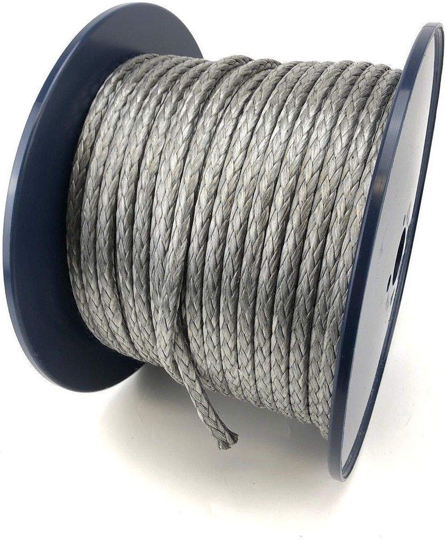 RopeServices UK Dyneema SK75 Seil, 12 Stränge, 6 mm, 10 m Länge, silberfarben B07H19Q883  Gewinnen Sie hoch geschätzt