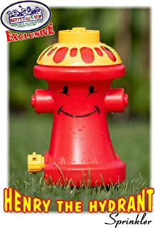 Matty's Toy Stop Henry The Hydrant Water Sprinkler for Kids, Attaches to Standard Garden Hose & Sprays Up to 10 Feet High & 16 Feet Wide, Measures 10.75