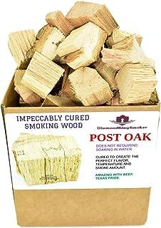 DiamondKingSmoker Smoking Wood Chunks 100% All Natural Barbecue Smoker Chunks for Grilling and BBQ   Large Cut Smoker Chip...