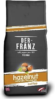 Der-Franz Kaffee, Mischung aus Arabica und Robusta, geröstet, ganze Bohne aromatisiert mit natürlicher Haselnuss UTZ, 1000 g